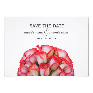 Pink Roses Wedding Save The Date 9 Cm X 13 Cm Invitation Card