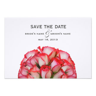 Pink Roses Wedding Save The Date Personalized Invitations
