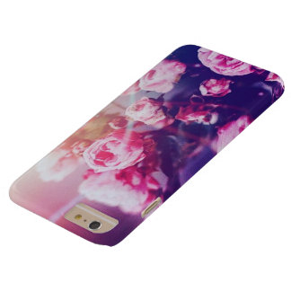 Pink roses with blue background iphone 6 case
