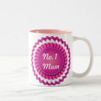 Pink Rosette Two-Tone Coffee Mug