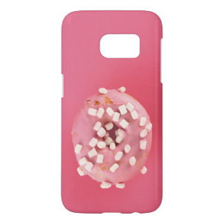 Pink, rosy case with sweet donut in pink glaze