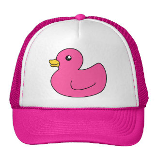 Pink Rubber Duck Trucker Hat