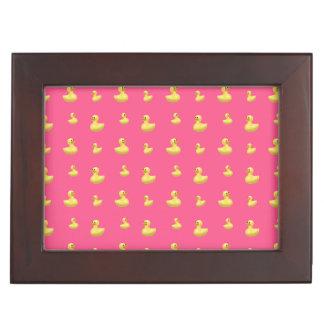 Pink rubber duck pattern keepsake boxes