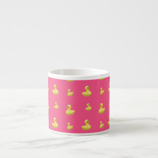 Pink rubber duck pattern espresso cups