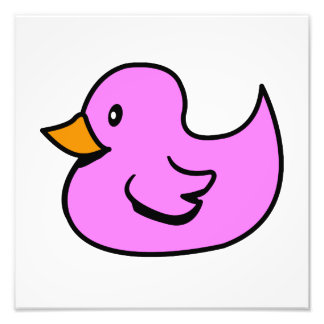 Pink Rubber Duck Photographic Print