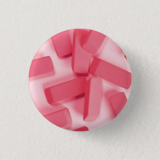Pink Rubber Erasers 3 Cm Round Badge