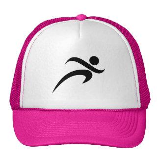 Pink Running Trucker Hat