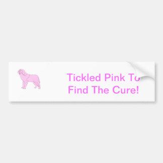 Pink Saint Bernard Bumper Sticker