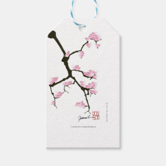 pink sakura and birds, tony fernandes gift tags