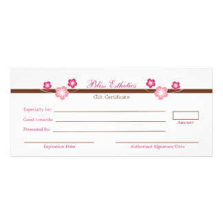 Pink Sakura Gift Certificate Template Rack Card Design