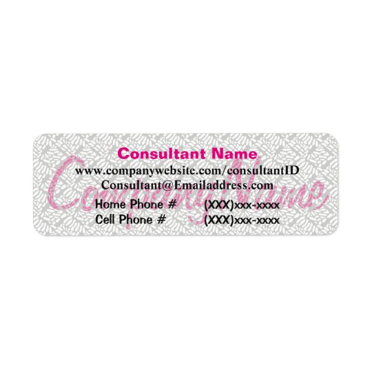 Pink Sales Consultant Label Return Address Label