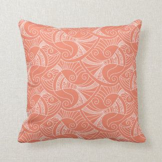 pink salmon background fish pattern | pillow