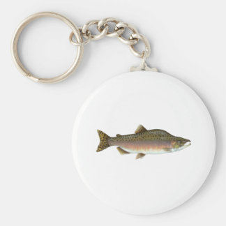 Pink Salmon Basic Round Button Key Ring