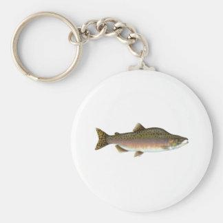 Pink Salmon Basic Round Button Key Ring