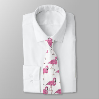 Pink Salmon - Flamingo Pattern Tie