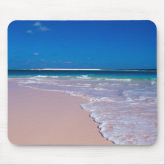 Pink sand beach at Conch Bay, Cat Island, Mouse Mat