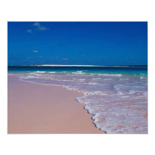 Pink sand beach at Conch Bay, Cat Island,