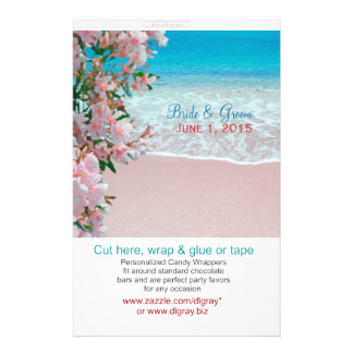 Pink Sand Beach Candy Wrappers 14 Cm X 21.5 Cm Flyer