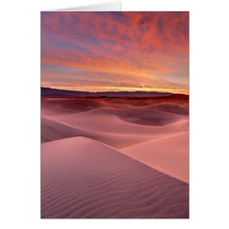 Pink sand dunes, Death Valley, CA Greeting Card
