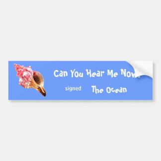 Pink Sandy Conch Shell Bumper Sticker