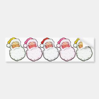 Pink Santa Claus Car Bumper Sticker