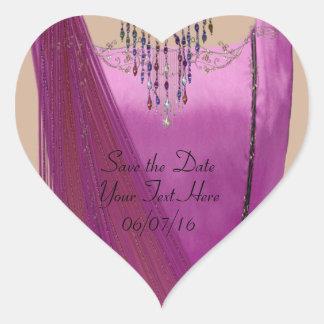 Pink Sari Heart Sticker