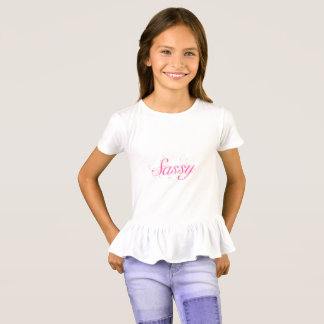 Pink Sassy Typography T-Shirt