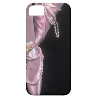 pink satin ballet toe shoes iPhone 5 case