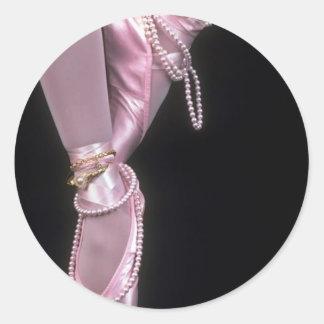 pink satin ballet toe shoes sticker
