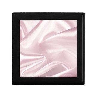Pink satin gift box