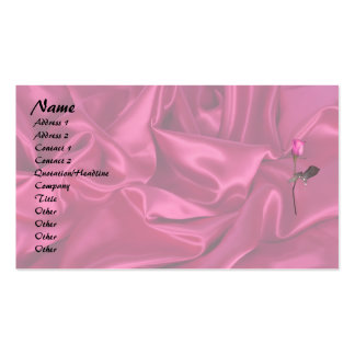 Pink Satin Heart! Pack Of Standard Business Cards