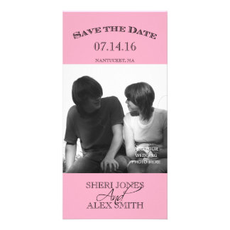 Pink Save the Date Photo Cards