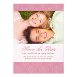 Pink Save the Date Wedding Template Personalized Announcement