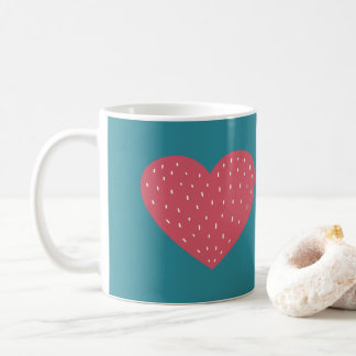 Pink Scandinavian Style Heart Love Coffee Mug