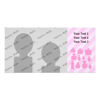 Pink Scent Bottles. Photo Greeting Card