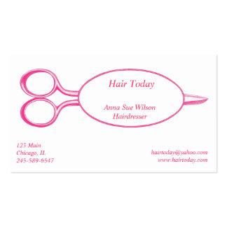 Pink Scissor Business Card