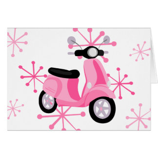 Pink Scooter Card