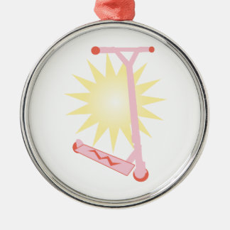Pink Scooter Christmas Ornament