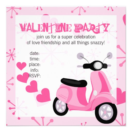 Pink Scooter with Hearts! Custom Announcements