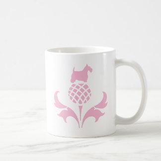Pink Scottie Thistle Coffee Mug
