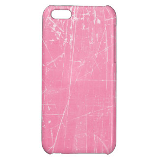 Pink Scratched Aged and Worn Texture iPhone 5C Cover