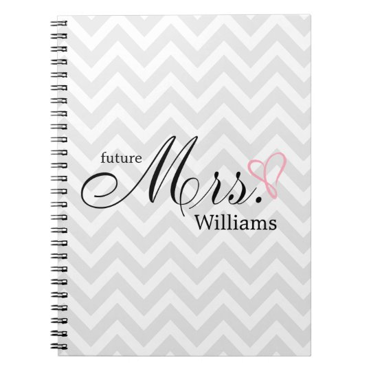 Pink Scribbled Heart Future Mrs Wedding Planner Note