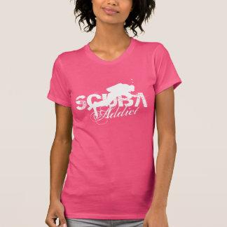Pink scuba diving t shirt for women