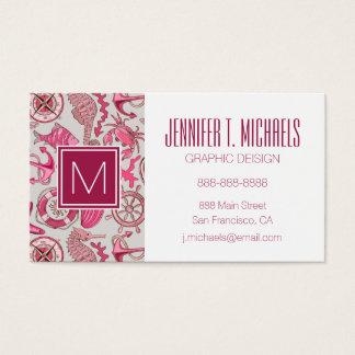 Pink Sea Pattern Business Card