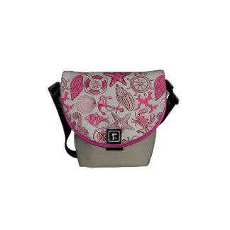 Pink Sea Pattern Commuter Bags