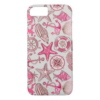 Pink Sea Pattern iPhone 8/7 Case