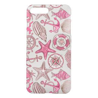 Pink Sea Pattern iPhone 8 Plus/7 Plus Case