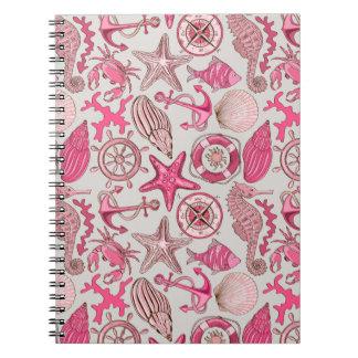 Pink Sea Pattern Notebooks