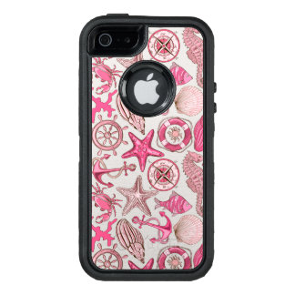 Pink Sea Pattern OtterBox Defender iPhone Case