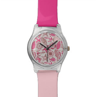 Pink Sea Pattern Watch